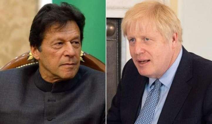 رئیس وزراء باکستان عمران خان یطمئن علي صحة نظیرہ البریطاني جونسون