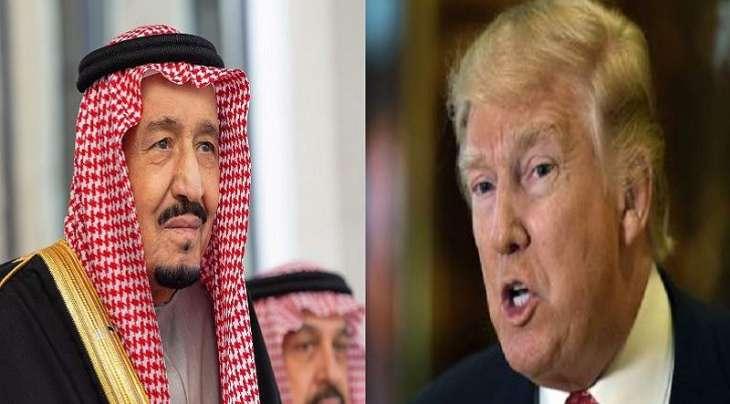 الرئیس الأمریکي ترامب یجري اتصالا ھاتفیا مع الملک السعودي سلمان بن عبدالعزیر