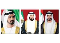 رئيس الدولة ونائبه ومحمد بن زايد يهنئون رئيس الكاميرون باليوم الوطني لبلاده