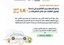 صندوق تنمية الموارد البشرية يدعم السعوديين العاملين في خدمة توصيل الطلبات من خلال التطبيقات بـ 1.6 مليون ريال