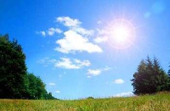 Mainly hot, dry weather is expected in most parts of the country today