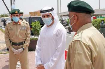 Hamdan bin Mohammed visits security and service departments and meets with on personnel duty during Eid