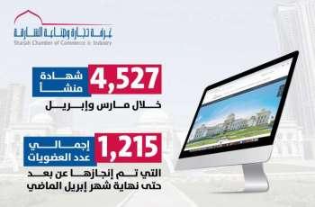 غرفة الشارقة تصدر إلكترونيا 4527 شهادة منشأ في مارس وإبريل 2020