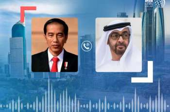 Mohamed bin Zayed, President of Indonesia review global fight against COVID-19