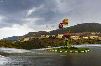 هطول أمطار على منطقة الباحة