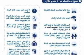 الطيران المدني: لن يسمح للمسافر الذي درجة حرارته أكثر من (38) من دخول مطارات المملكة حسب تعليمات الجهات الصحية