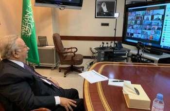 السفير المعلمي يقيم حفل معايدة افتراضي لسفراء العالم وكبار مسؤولي الأمم المتحدة