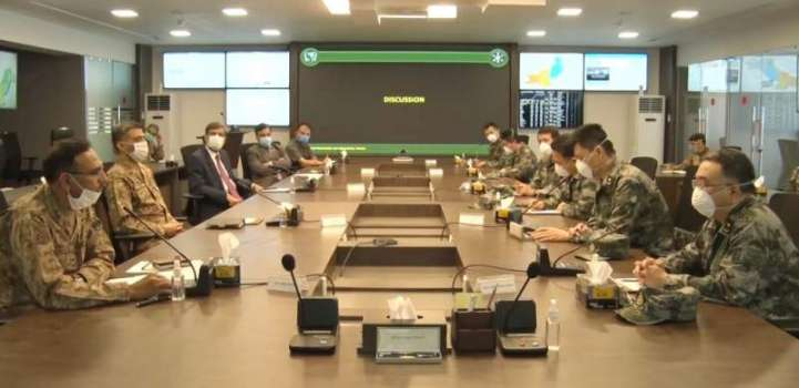 Ten members Chinese Military Medical team visited National Comman ..