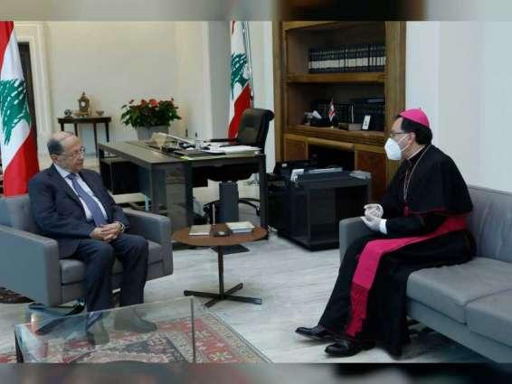 """الرئيس اللبناني يثمن دعوة اللجنة العليا للأخوة الإنسانية بالصلاة المشتركة ويعتبرها """"في صلب رسالة لبنان"""""""