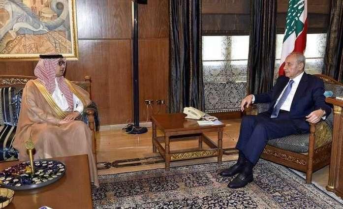 رئيس النواب اللبناني يستقبل سفير خادم الحرمين الشريفين