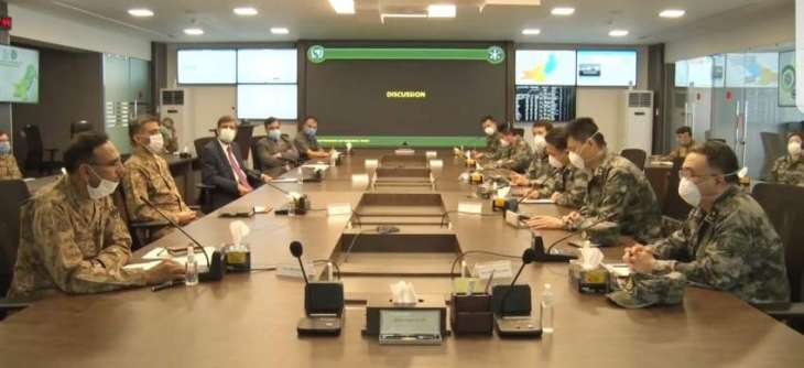 Ten members Chinese Military Medical team visited National Command and Operation Centre (NCOC)