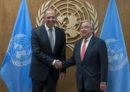 Lavrov, UN Chief Discuss COVID-19, Developments in Syria, Libya - Russian Foreign Ministry