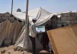 مركز الملك سلمان للإغاثة يوزع 2,500 كرتون من التمور للنازحين من محافظة صنعاء إلى مأرب