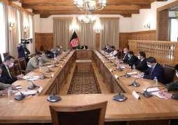 الرئیس الأفغاني أشرف غني یستقبل رئیس أرکان الجیش الباکستاني خلال زیارتہ لأفغانستان