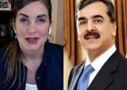 Yousuf Raza Gillani  sends legal notice to US blogger Cynthia over allegations of manhandling