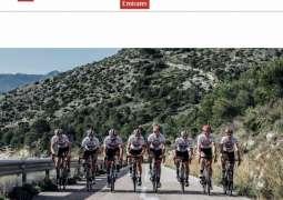"""""""الإمارات للدراجات"""" يعلن تشكيلات دراجيه لجولات فرنسا وإيطاليا وإسبانيا"""
