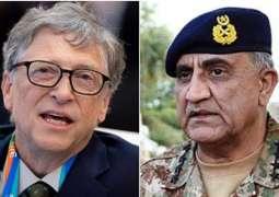 Bill Gates phones Gen Qamar, hails Pakistan Army's role in police eradication drive