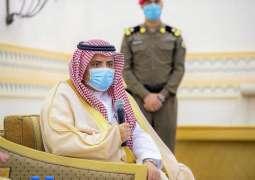 سمو الأمير فيصل بن مشعل يستعرض مع رئيس جامعة القصيم جهود الجامعة في مواجهة كورونا