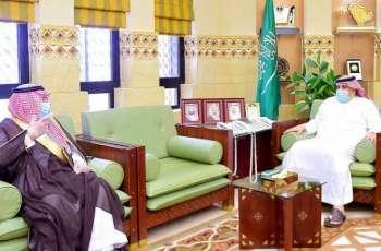 وكيل إمارة منطقة الرياض يستقبل مديري التعليم والشؤون الإسلامية والنقل بالمنطقة
