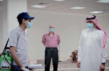 طلاب جامعة جازان يشاركون في تعقيم المساجد والجوامع