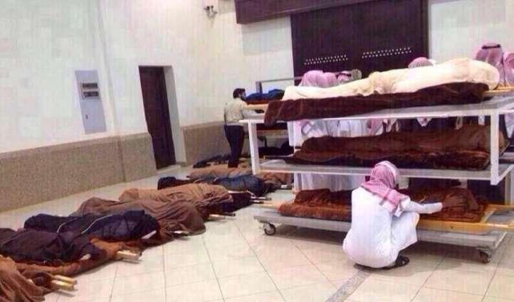 صلاة الجنازة علي 109 شخصا في یوم واحد بمدینة الریاض