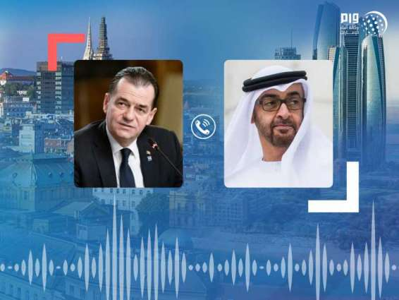 Mohamed bin Zayed, Romania's PM discuss bilateral ties