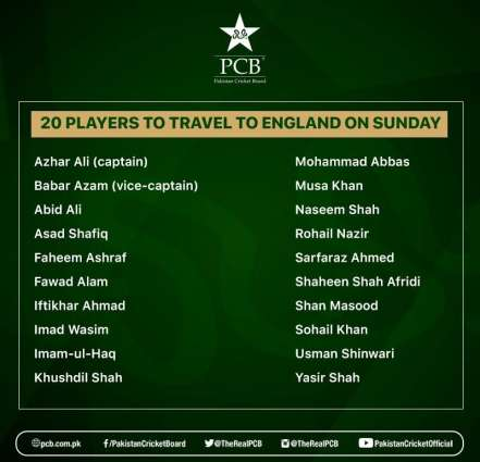 20 players, 11 support staff to travel to Manchester on Sunday