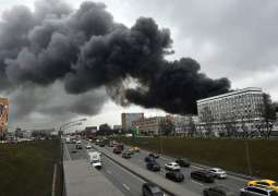 Russian Emergencies Ministry Says No People Dead or Injured in Fire in Central Moscow