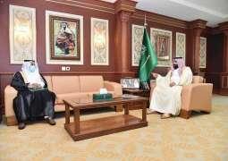 سمو نائب أمير منطقة جازان يستقبل مدير فرع التجارة بالمنطقة