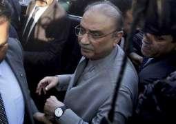 NAB court once again postpones Zardari's indictment in Park Lane reference