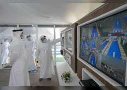 Khalid bin Mohamed bin Zayed visits SEHA's drive-through testing facility at Abu Dhabi Corniche