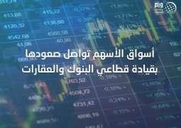 أسواق الأسهم تواصل صعودها بقيادة قطاعي البنوك والعقارات