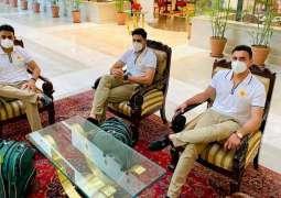 Imran Khan Sr, Kashif Bhatti, Haider Ali and Malang Ali depart for England