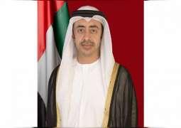 Abdullah bin Zayed: COVID-19 crisis further solidified UAE, South Korea partnership