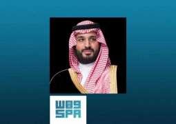 سمو ولي العهد يعزي حاكم الشارقة في وفاة الشيخ أحمد القاسمي