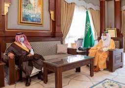 سمو أمير المدينة المنورة يلتقي رئيس الجامعة الإسلامية بالمدينة المنورة