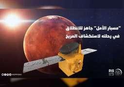 """""""مسبار الأمل"""" جاهز للانطلاق في رحلته لاستكشاف المريخ"""