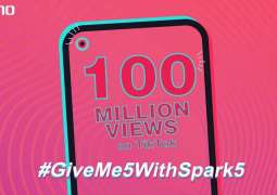 TECNO's #GiveMe5withSpark5 Challenge Breaks A Record of 100M Views on Social Media