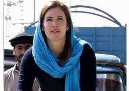 US blogger Cynthia is working on ISPR, KP govt's projects