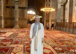 Ottoman Empire Caliph's grand-daughter offers Juma prayer at Hagia Sophia
