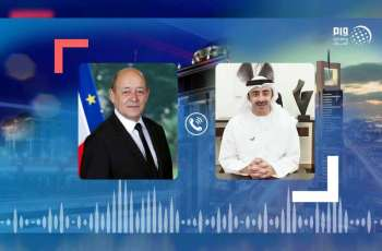 Abdullah bin Zayed, French counterpart discuss regional developments, COVID-19 countermeasures