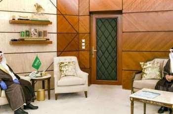 سمو أمير الشرقية يلتقي أمين جمعية البر بالمنطقة