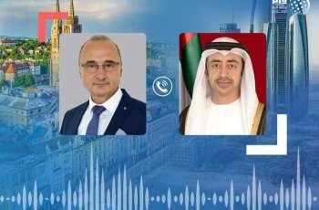 Abdullah bin Zayed, Croatian counterpart discuss bilateral relations, COVID-19 countermeasures