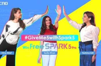 Rollick on #GiveMe5WithSpark5 Jingles on TikTok to Win TECNO Spark 5 Pro