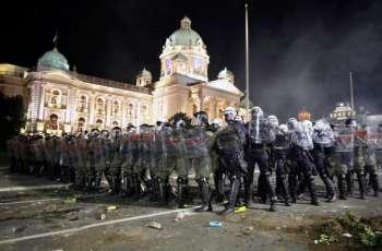 Over 40 Serbian Policemen Injured in Riots in Belgrade Over COVID-19 Response - Police