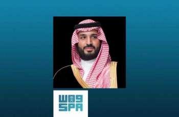 سمو ولي العهد يعزي رئيس دولة الإمارات العربية المتحدة في وفاة الشيخ أحمد القاسمي
