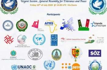 الجمعية العمومية للتسامح والسلام تدعو لوقف إطلاق النار وبناء السلام في ليبيا