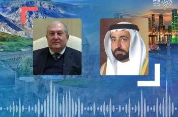 حاكم الشارقة يتلقى برقية تعزية من رئيس أرمينيا بوفاة الشيخ أحمد بن سلطان القاسمي