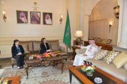 سفير خادم الحرمين الشريفين في لبنان يستقبل السفيرة الامريكية