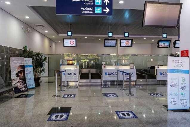 مطار الوجه .. إجراءات احترازية ووقائية بصالات السفر استعداداً لاستئناف الرحلات الداخلية